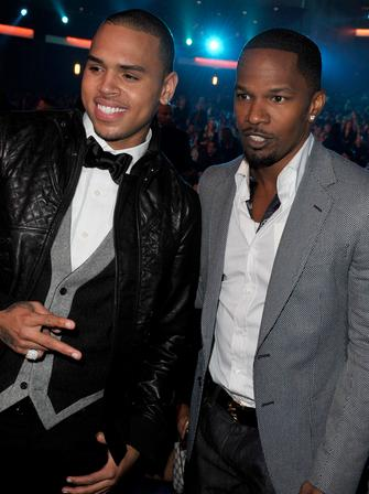 Chris Brown and Jamie Foxx