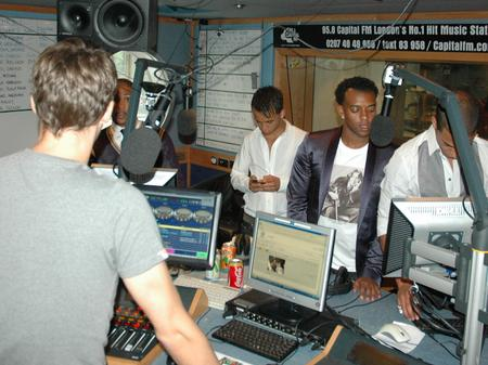 JLS in the Capital studios