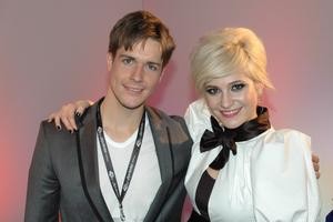 Kevin with Pixie Lott