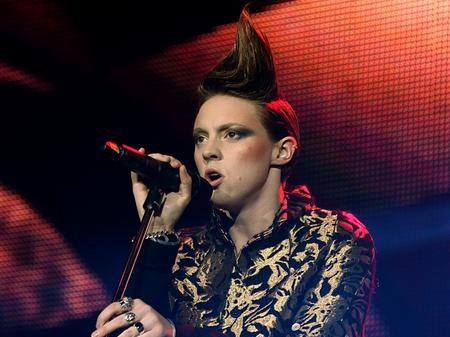 La Roux on stage at the Jingle Bell Ball