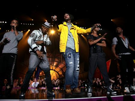 JLS and Travie McCoy perform at the MOBOs