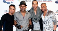 JLS backstage at Capitals Jingle Ball Ball with Wi