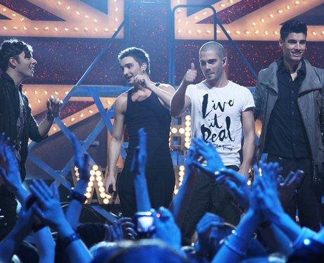 The Wanted perform at The Brit Awards 2011 nominat