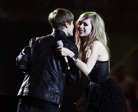 Justin Bieber and Avril Lavigne at the BRIT Awards