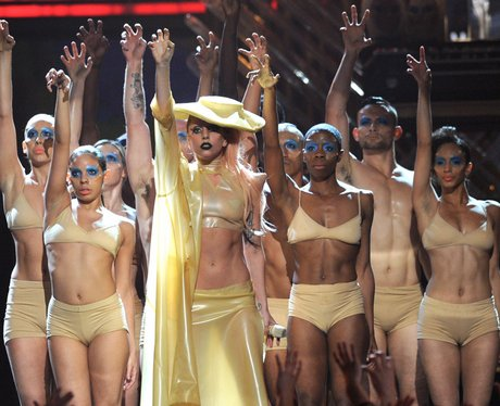 Lady Gaga performs live at the Grammy Awards