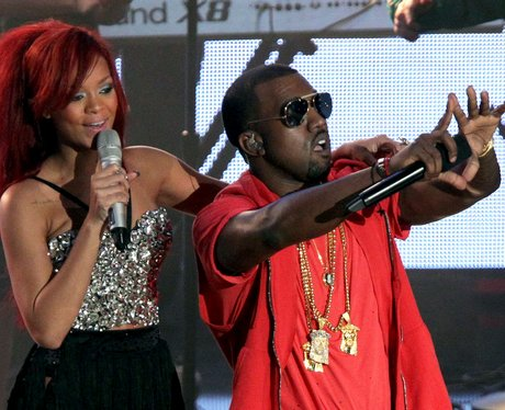 Rihanna and Kanye West The NBA All-Star Game