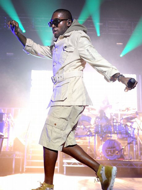 Tinie Tempah on stage during the 'Disc-Overy' tour in 2011