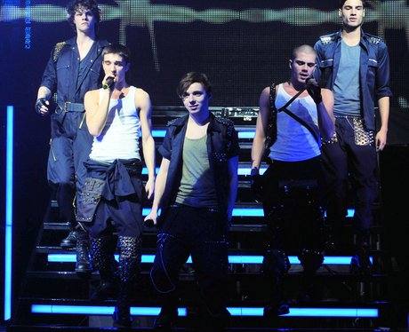 The Wanted perform live on tour.