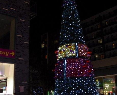 The Rock Bury's Christmas Light Switch On