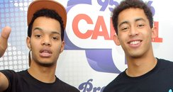 Rizzle Kicks backstage at the 2011 Jingle Bell Bal