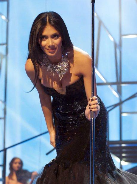 Nicole Scherzinger performing