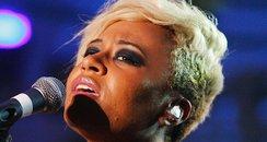 Emeli Sande performs on stage