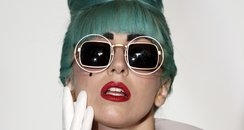 Lady Gaga blue hair