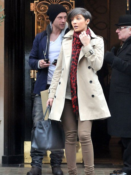 Frankie Sandford with boyfriend Wayne Bridge
