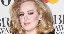 Adele arrives at the BRIT Awards 2012