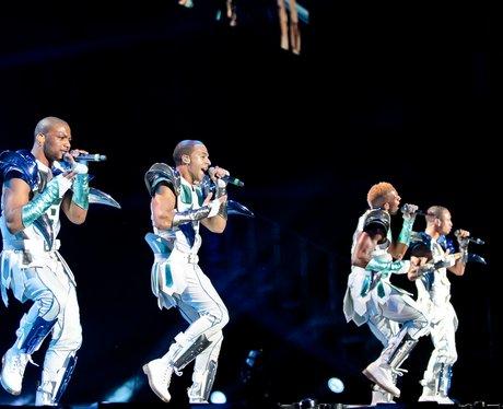 JLS live on stage