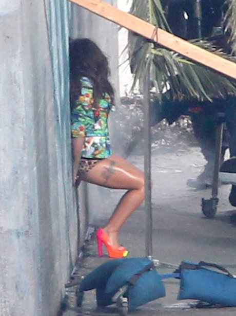 Cheryl Cole's on set of her music video