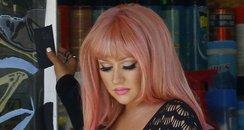 Christina Aguilera filming new music video