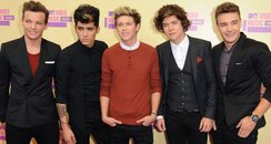 One Direction arrive at the MTV VMA 2012 Awards