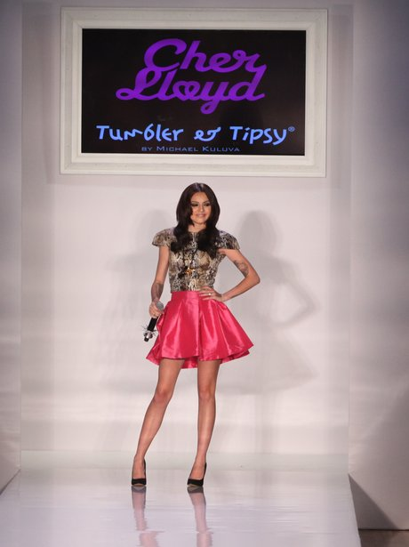 Cher Lloyds performs at New York Fashion Week.