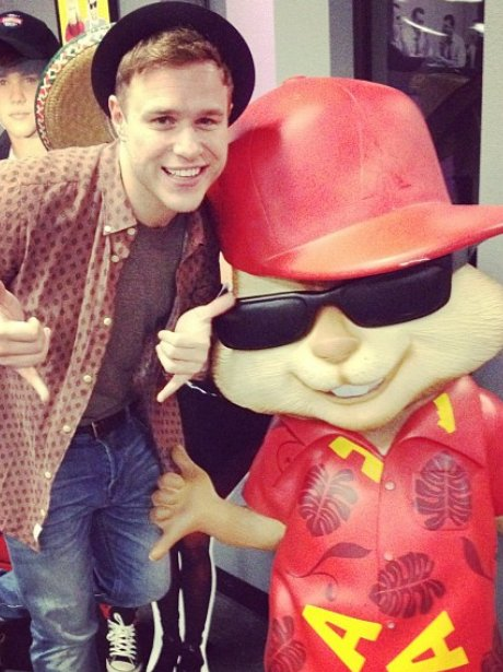 Olly Murs and Alvin from the Chipmunks