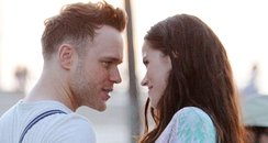 Olly murs filming music video with a brunette