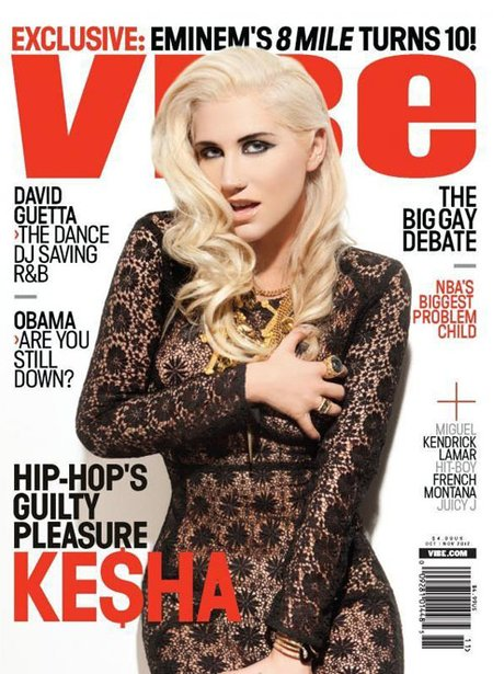 Ke$ha on the cover of Vibe Magazine.