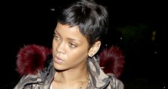 Rihanna heads to the recording studio