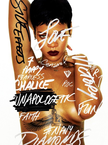 Rihanna new album 'Unapologetic' artwork cover