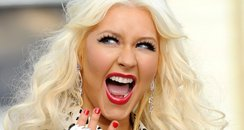 Christina Aguilera with blond hair