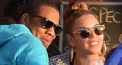 Beyonce and Jay-Z at a restuarant together