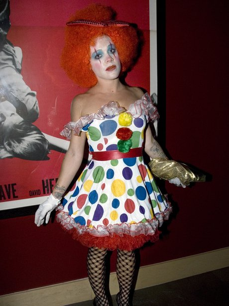Pink clown Halloween costume