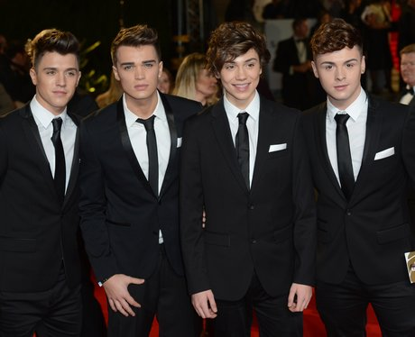 Union J arriving at the World Premiere of Skyfal