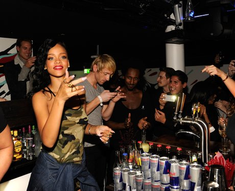 Rihanna celebrates at her after party on her '777' world tour