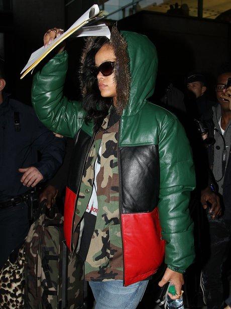 Rihanna arrives in Paris for her '777' Tour