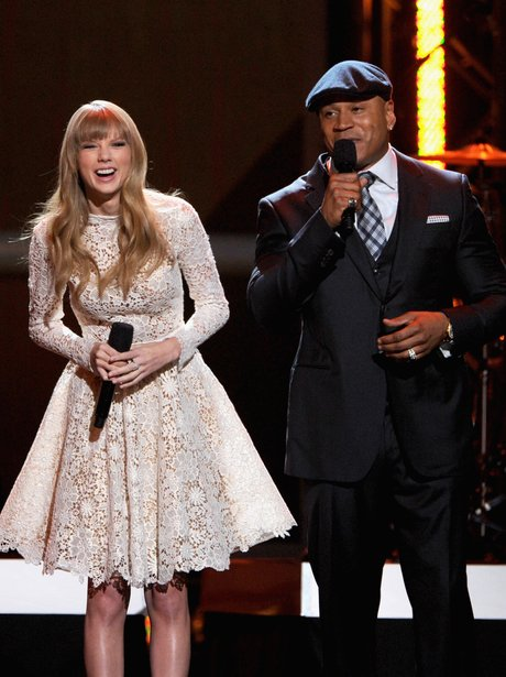 Taylor Swift at the Grammys nominations concert