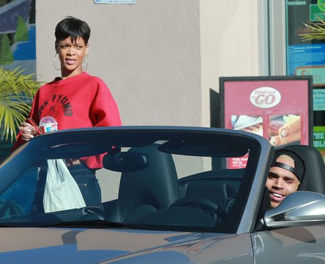 Rihanna and Chris Brown together in Los Angeles