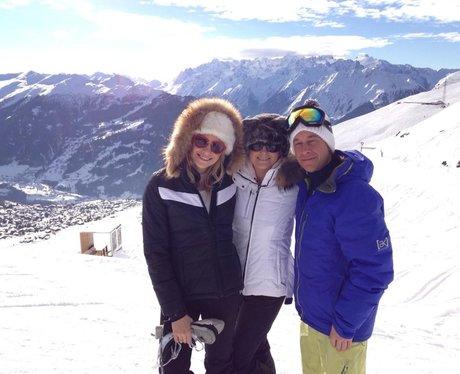 Pixie Lott on ski slope