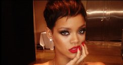 Rihanna poses for a photoshoot