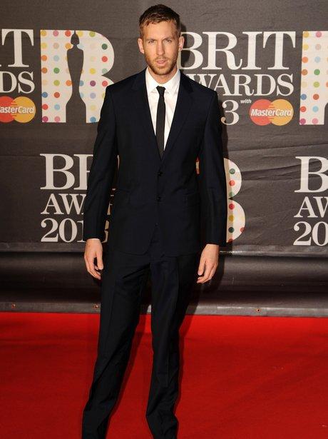 Calvin Harris at the BRIT Awards 2013