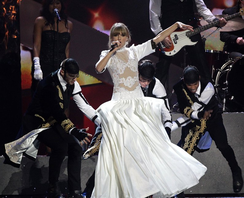 Taylor Swift live at the BRIT Awards 2013