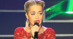 Rita Ora performs at Paris Fashion Week
