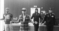 JLS rehearsing