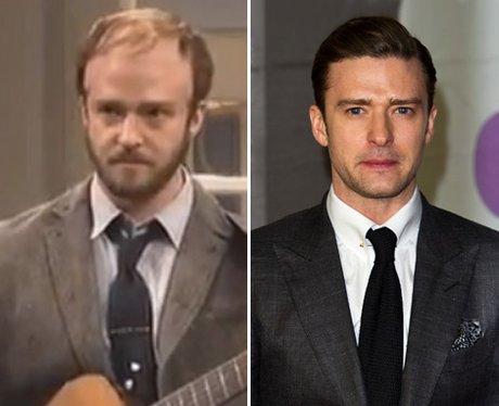 Justin Timberlake dressed as Bon iver