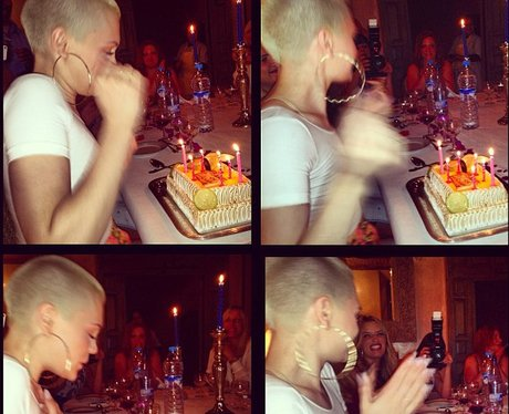 Jessie J celebrates her birthday out on holiday