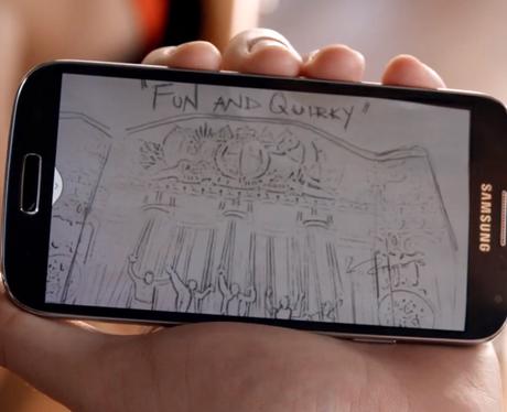 Samsung phone in The WAnted's 'Walks lIke Rihanna video