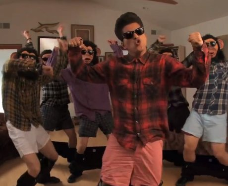 Bruno Mars in his Lazy Song music video