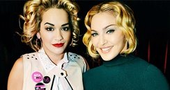 Rita Ora and Madonna from Instagram