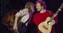 Taylor Swift and Ed Sheeran at the Summertime Ball
