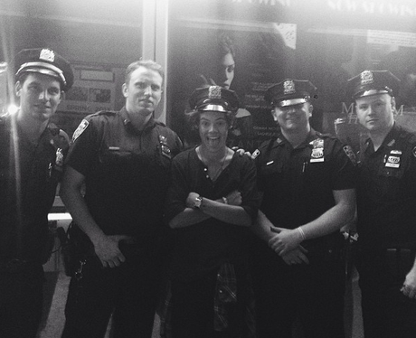 Harry Styles and the NYPD
